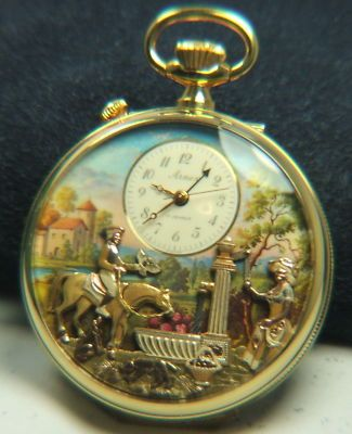 RARE ARNEX REUGE MUSICAL POCKET WATCH