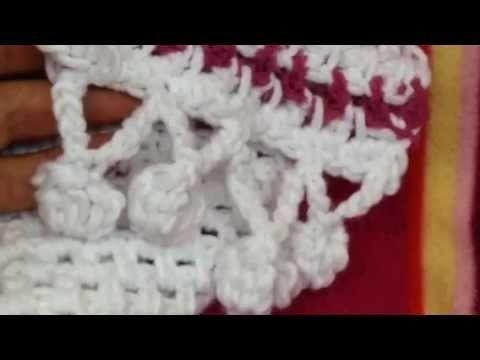 Bolletjes Rand Haken Crochet Pom Pom Pinterest Haken November