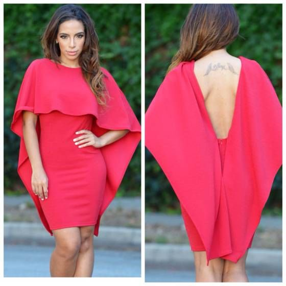 860a1175d6a9 Shopo.in   Buy Cape backless Dress online at best price in Mumbai ...