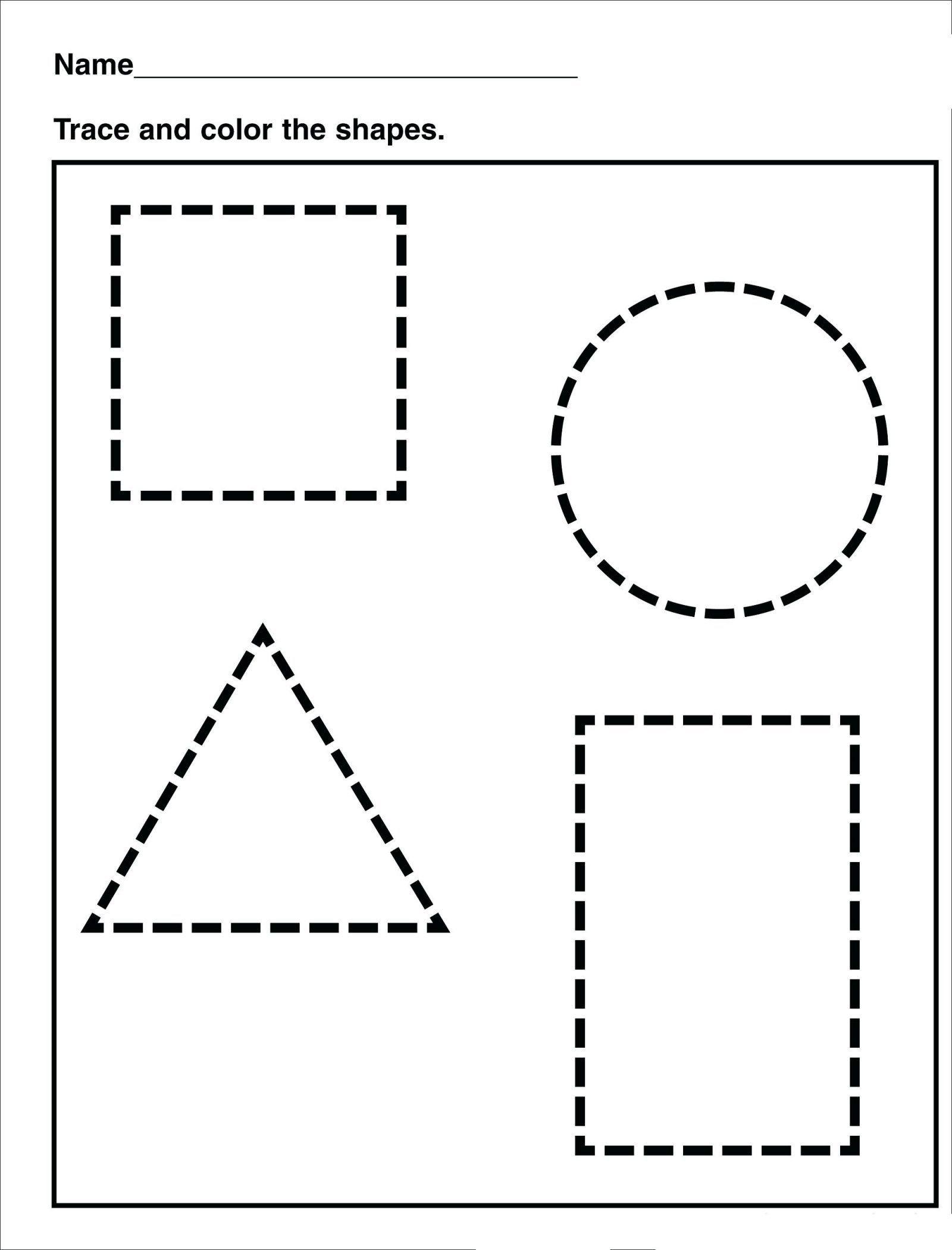 11 Shapes Preschool Tracing Worksheets Workhardtrainharder