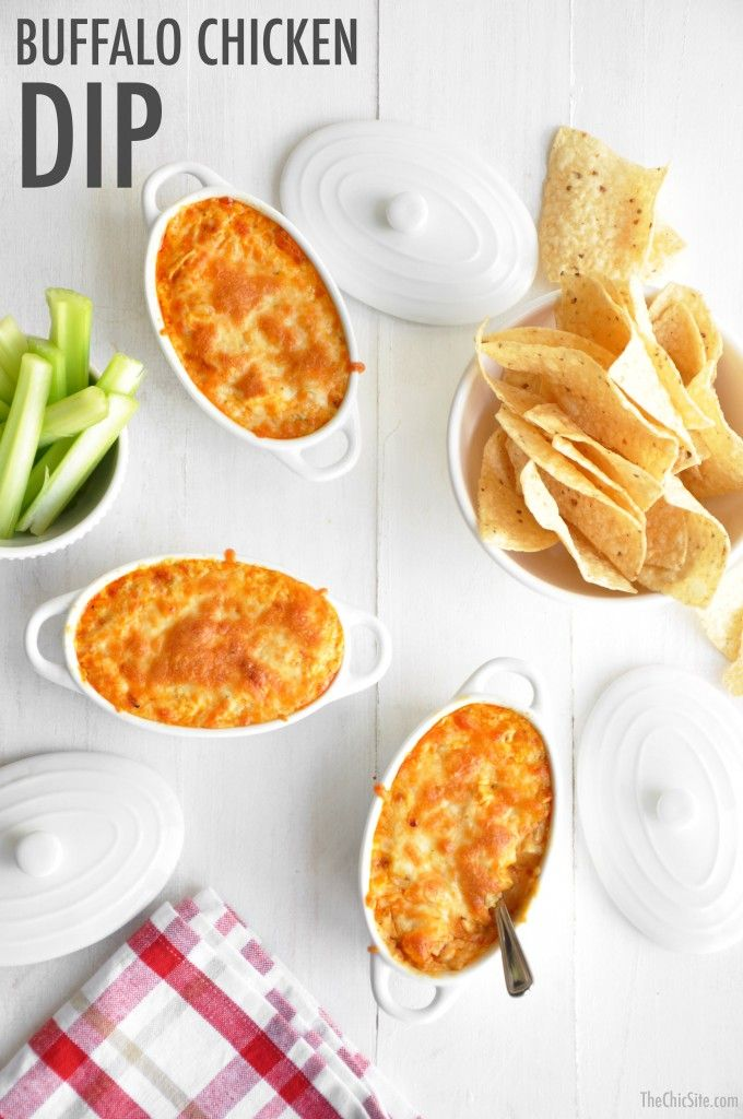 Buffalo Chicken Dip is perfect for  snacks and appetizers