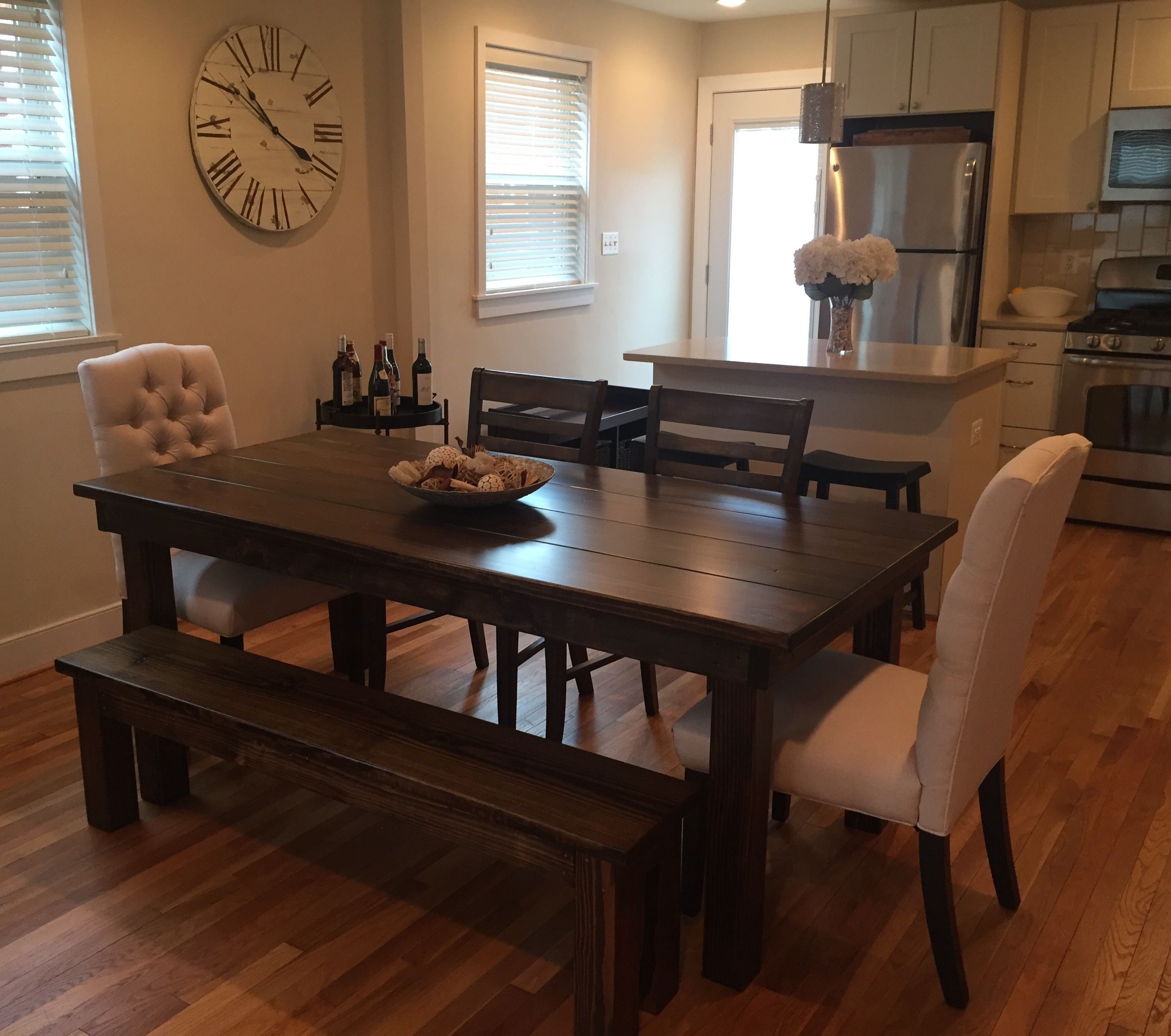 Custom Farmhouse Furniture Builthand And Built To Order In The Glamorous Custom Built Dining Room Tables 2018