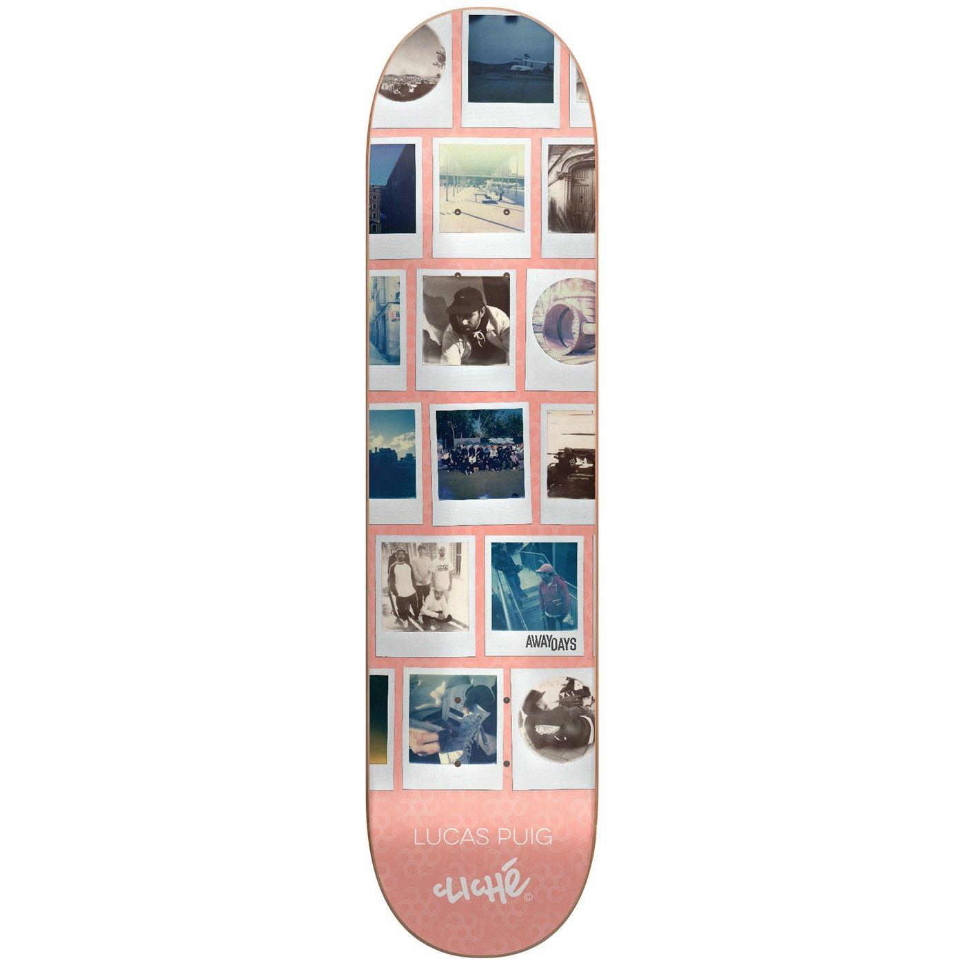 Cliche Skateboards Away Days Lucas Puig Deck in 8 25