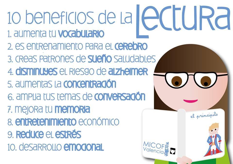 10 beneficios de la lectura #leeressalud