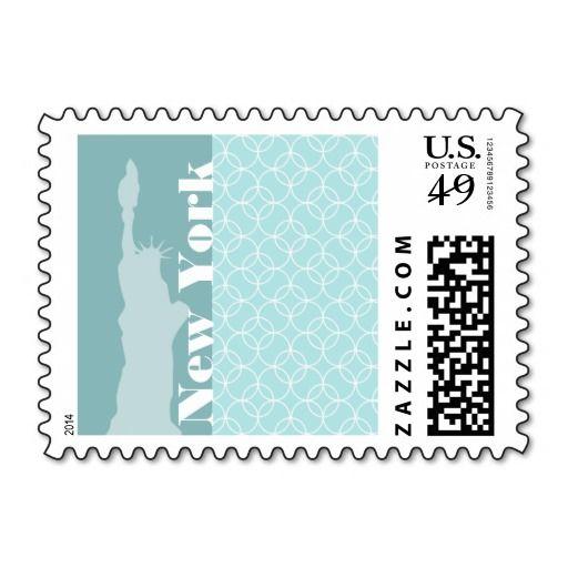 Baby Blue Circles; New York Stamp
