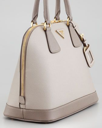 a584d4a4354c Saffiano Bicolor Dome Bag, Pomice/Argilla - Neiman Marcus Prada Saffiano, Prada  Bag
