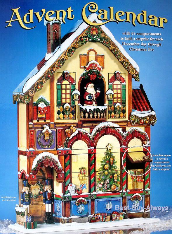 Wooden Advent Calendar Countdown Christmas Wood Victorian
