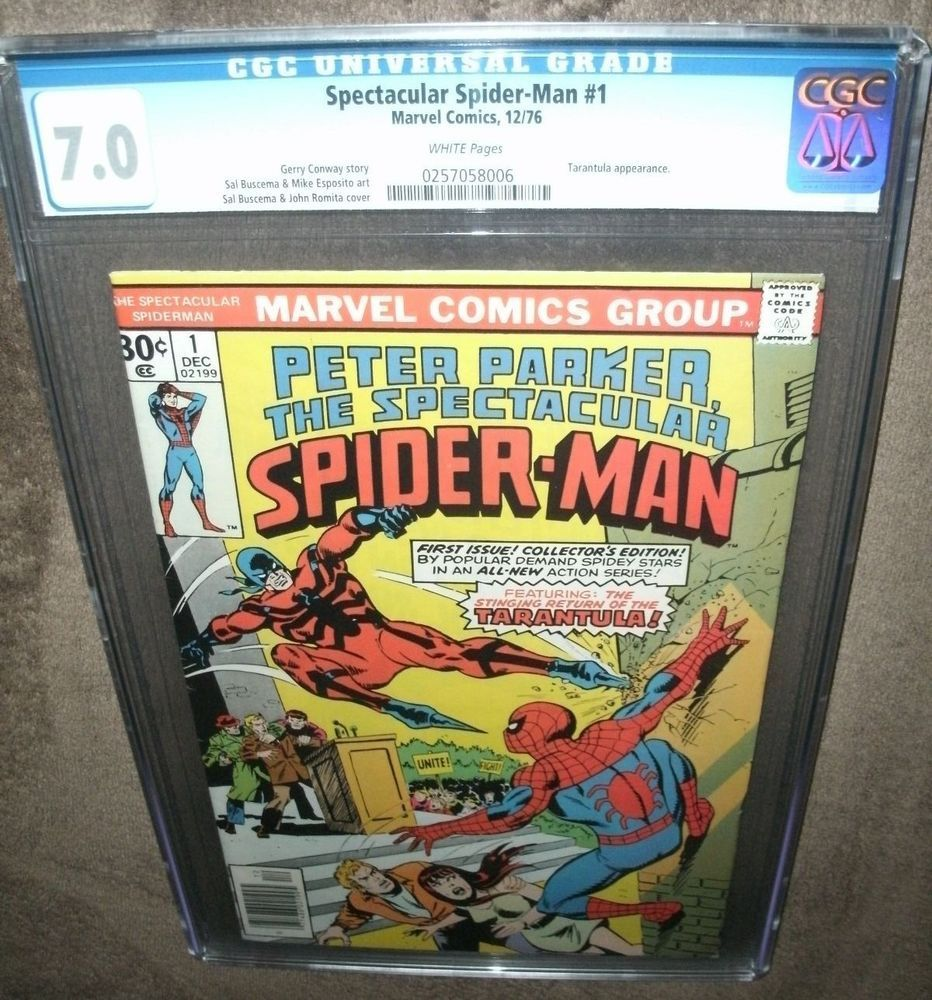 Spectacular Spider-Man #1 CGC (7 0) WP (Marvel-12/76