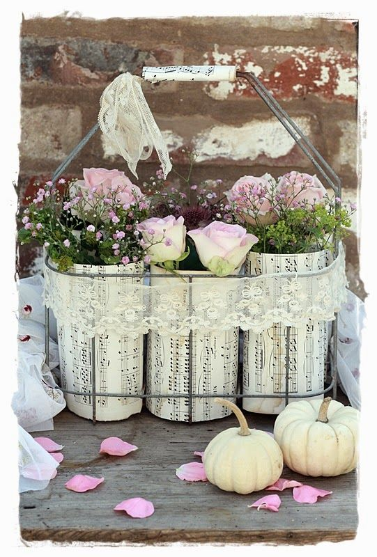 shabby cottage church flowers shabby deko deko. Black Bedroom Furniture Sets. Home Design Ideas