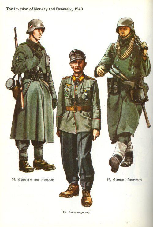 WWII German soldiers ww2 Ww2 uniforms