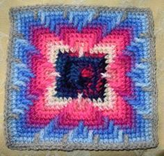Apaches Tears inspired Crochet square  ~ free pattern ᛡ