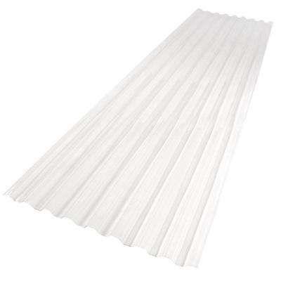 Polycarbonate Clear Plastic Panels Roof Panels The Home Depot In 2020 Polycarbonate Roof Panels Corrugated Plastic Roofing Corrugated Roofing