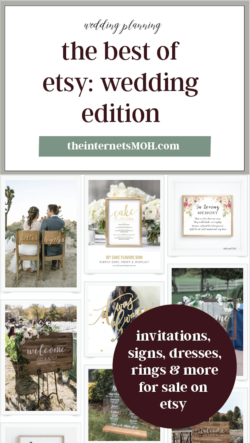 Best of Etsy | Table numbers, Wedding blog and Boutonnieres
