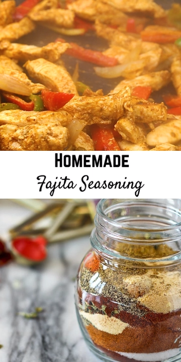 Homemade Fajita Seasoning #homemadefajitaseasoning Learn how to make homemade fajita seasoning in minutes using ingredients you probably already have in your pantry. This seasoning is so easy, you'll want to ditch the packet of unrecognizable ingredients. #fajitas #homemade #easy #seasoning #homemadefajitaseasoning