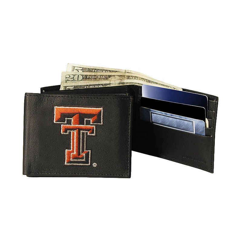 Texas Tech University Red Raiders Bifold Leather Wallet, Adult Unisex, Multicolor