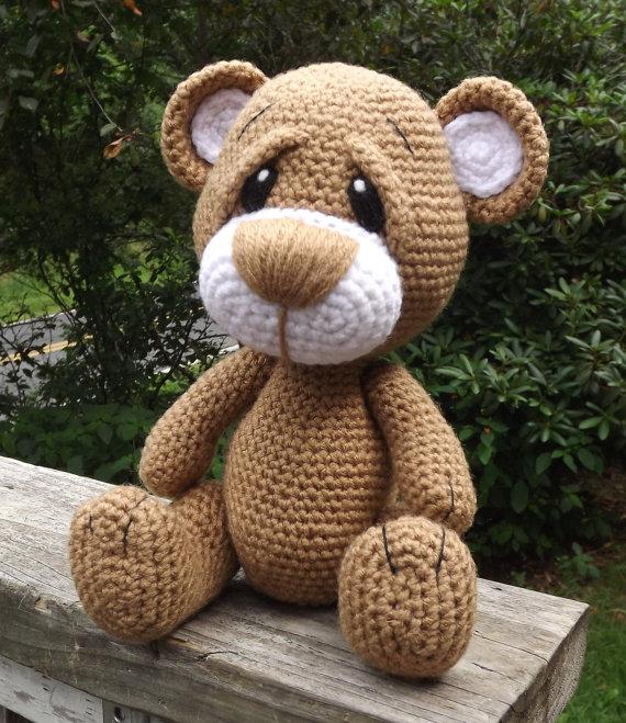 Little Brown Teddy Bear Amigurumi Crochet Pattern PDF. PDF file only ...