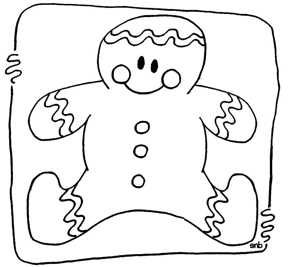 Christmas Gingerbread Coloring Pages For Free 11