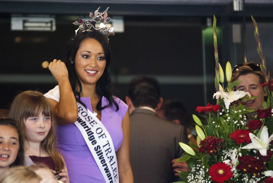 The Current Rose Of Tralee Arriving At The Carlton Tralee At The Start Of The Rose Of Tralee Festival