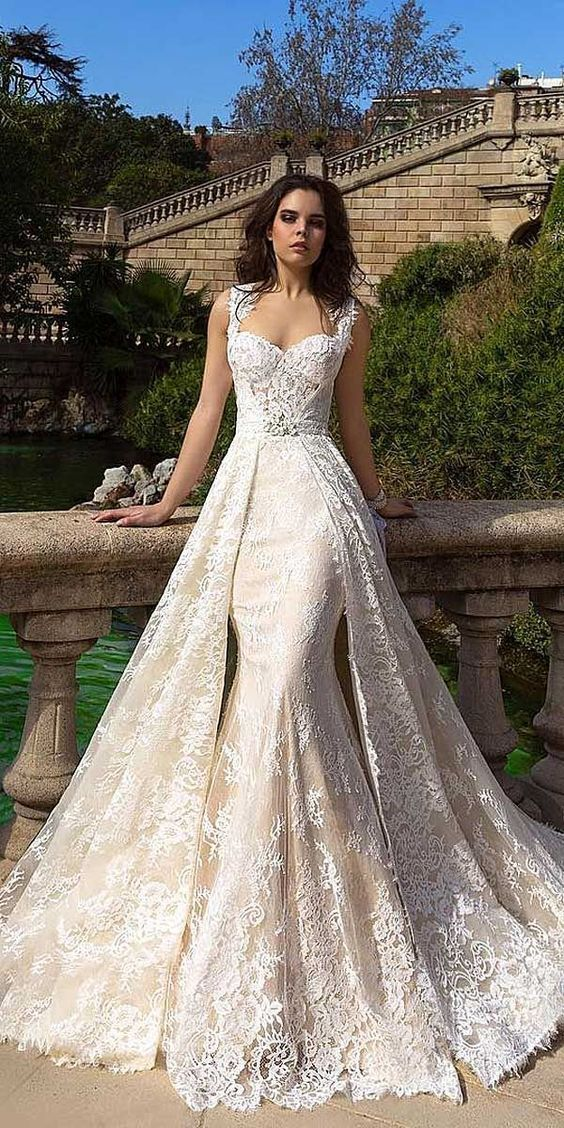 A376 Sexy Mermaid Long Wedding Bridal Gowns, Top Selling Chapel Train Long Wedding Gowns, Wedding Dresses 2016 from Miss Lady #bridalshops
