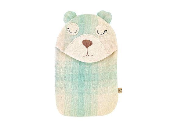 Blanket Bear Hottie Cover pastel rainbow door zippitydoodahNZ