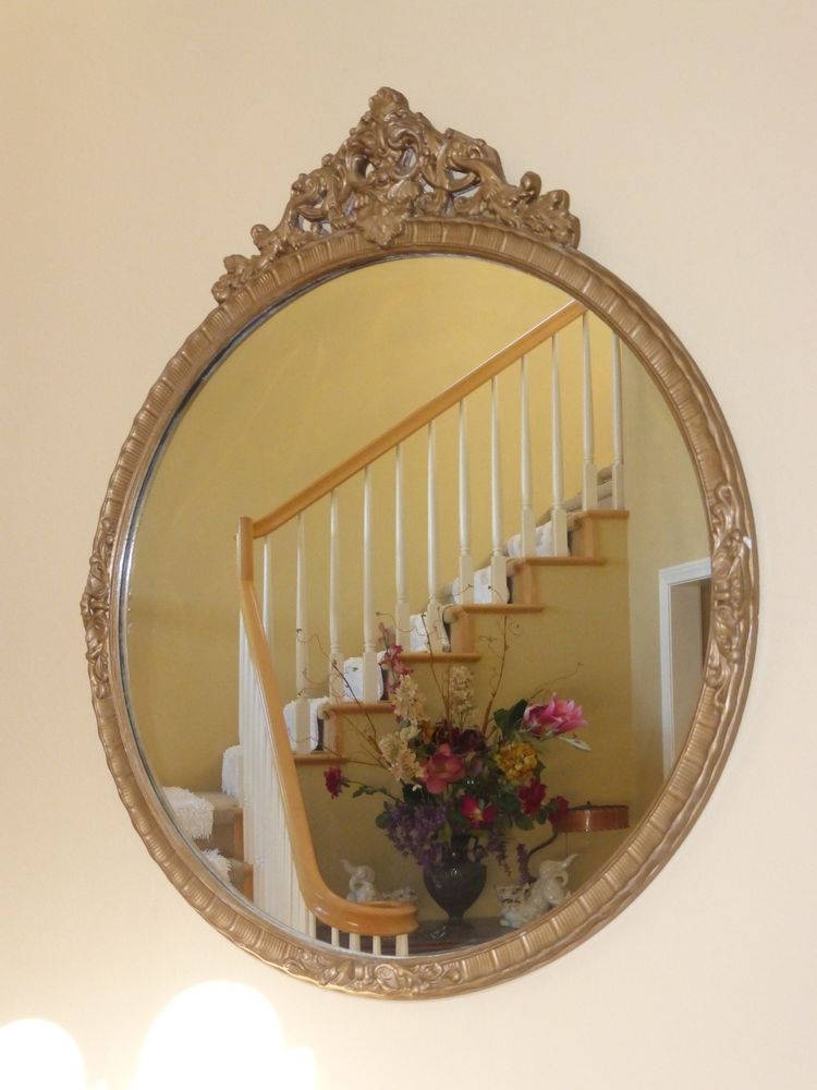 Vintage French Provincial Style Wall Mirror Gold Gilt Fl Design Frenchcountryprovincial