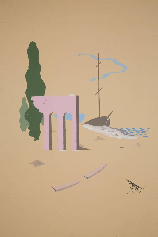 Original Watercolor by Boris Lacroix, France, Art Déco, circa 1930 ...