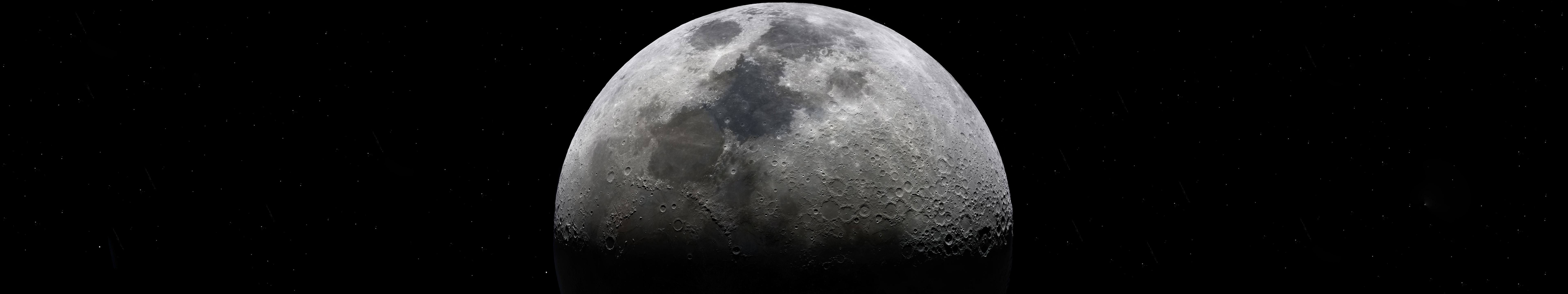 Moon 400mp 7680 X 1440 R Wallpaper Painting Memes Funny Images