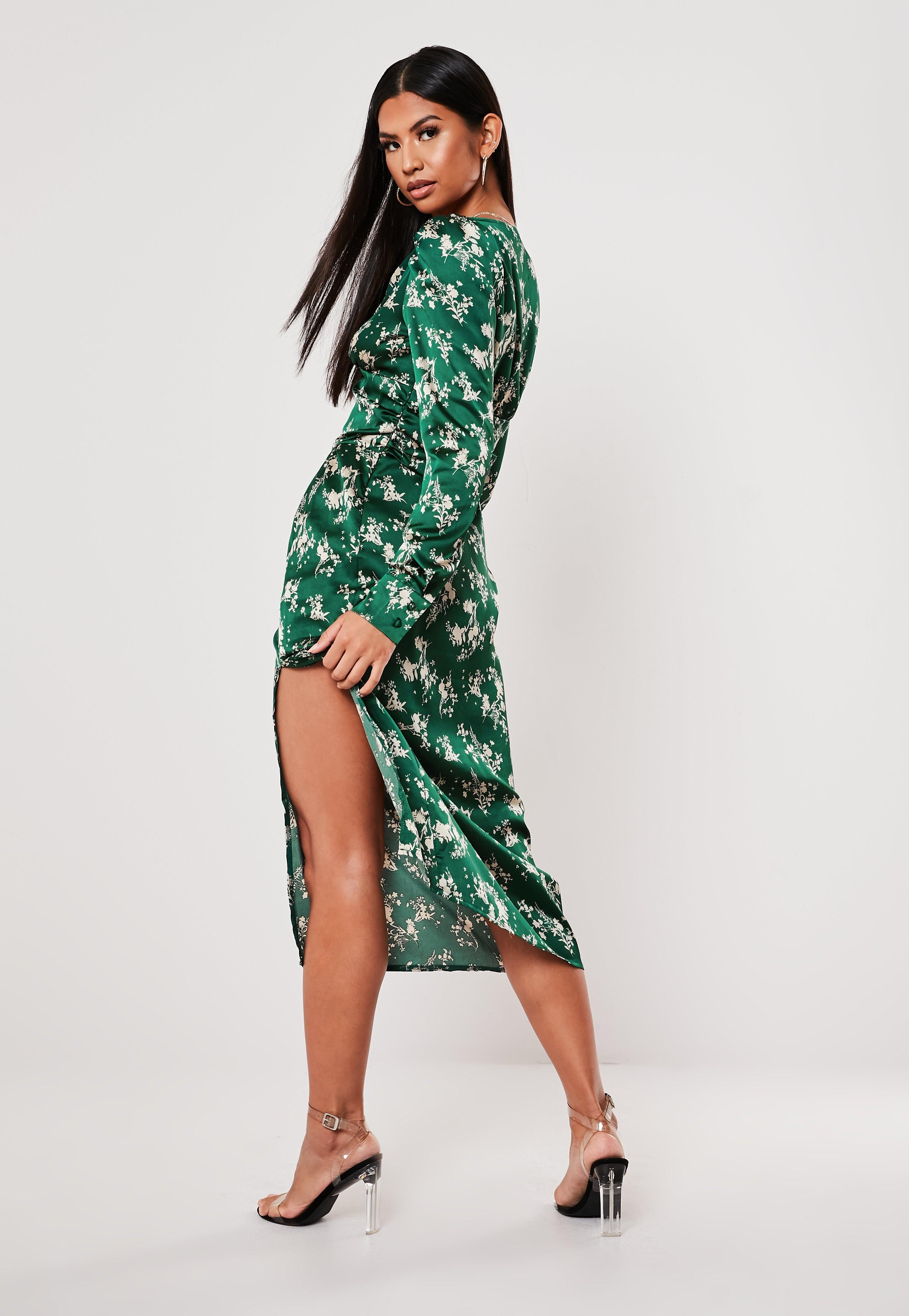 Green Floral Puff Sleeve Midi Dress Sponsored Puff Sponsored Floral Green Womens Dresses Puff Sleeve Midi Dresses Dresses [ 4200 x 2900 Pixel ]