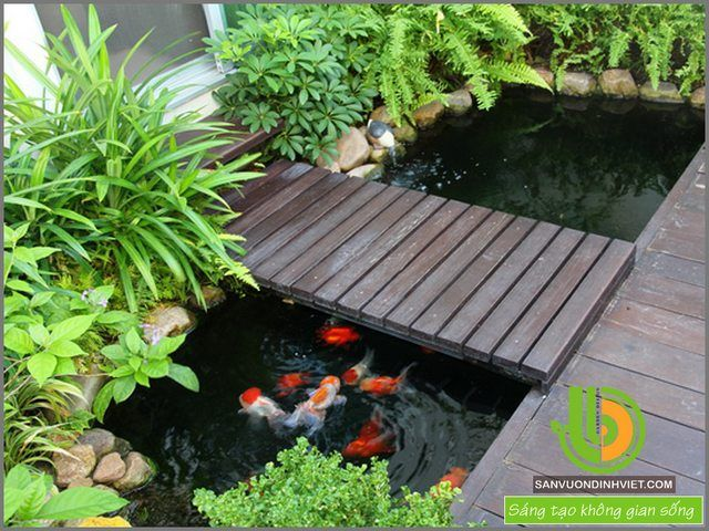thiết kế sân vườn đẹp Estanques peces Pinterest Pond, Gardens