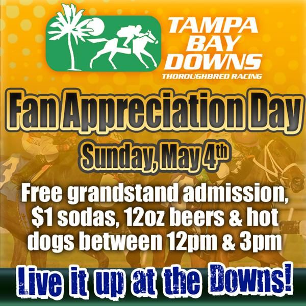 Fan Appreciation Day featureddays TampaBayDowns