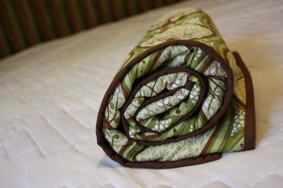 Pear Tree Whole Cloth Quilt by RedButtonQuilting