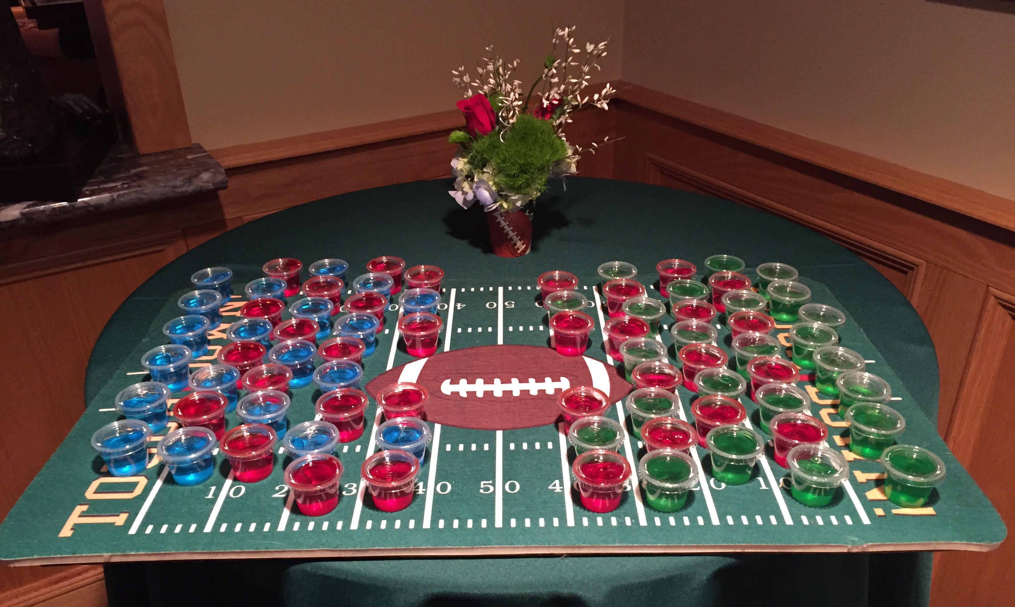 Superbowl Jello Shots Rug Purchased At Christmas Tree Store Flower