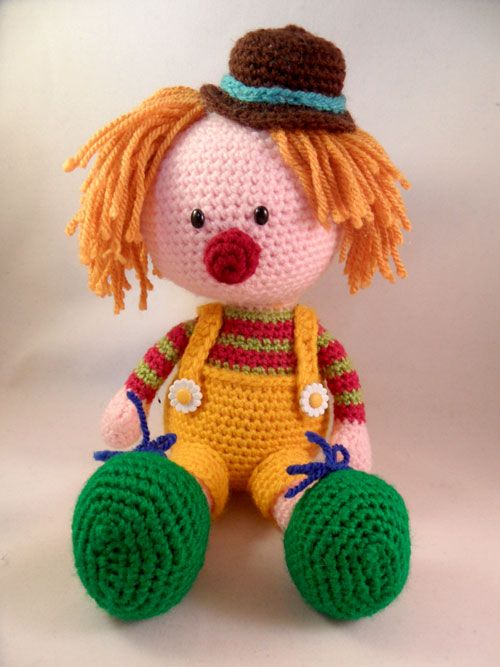 Casimier the Clown amigurumi pattern by Pii_Chii ...