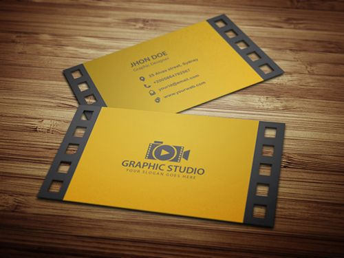 Filmography business card businesscards visitingcards creative business card designs cheaphphosting Gallery