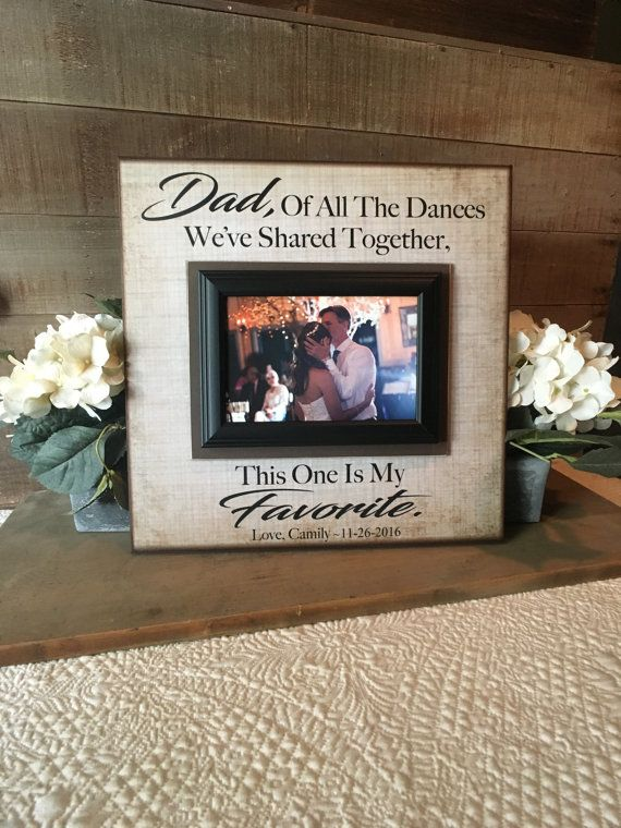 Father Daughter Dance Frame Thank You Gift From Bride
