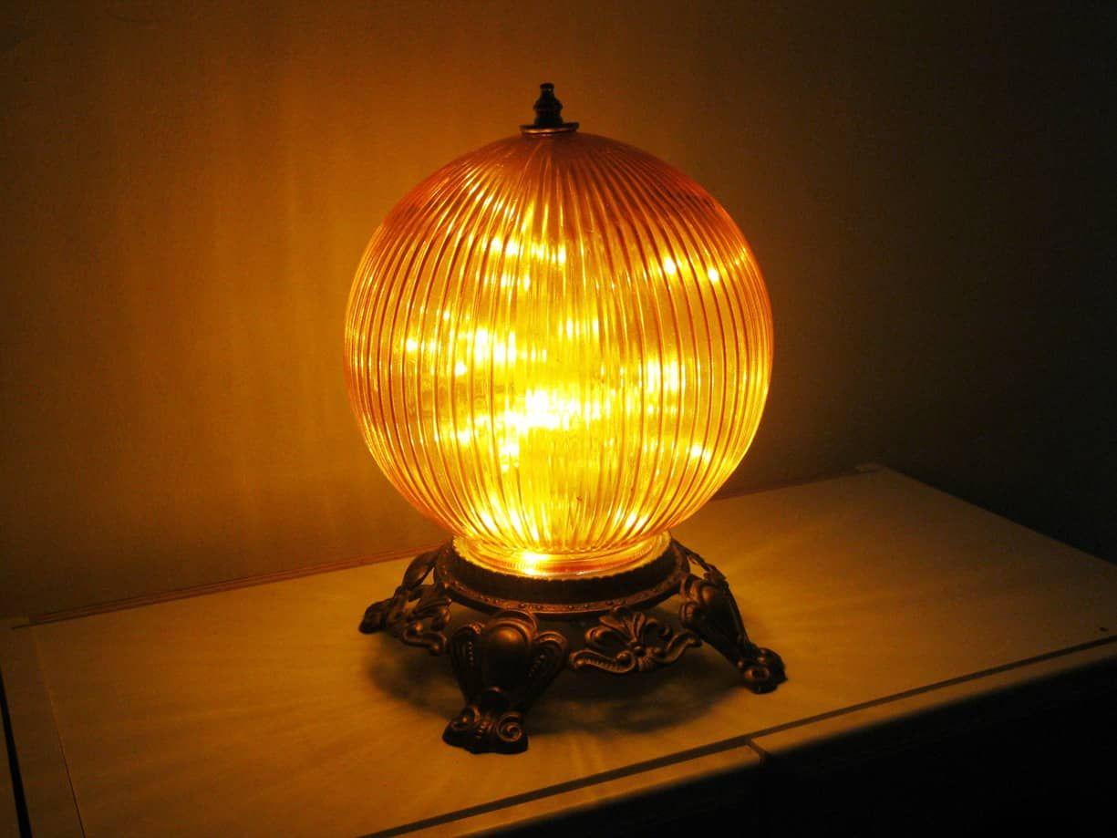 Funky Orange Globe Night Light Or Bedside Table Lamp Lamp Pendant Ceiling Lamp Star Night Light