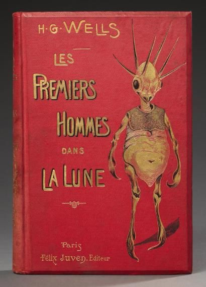 Wells Les Premiers Hommes Dans La Lune Traduit De L Anglais Par H Davray Fantasy Book Covers Vintage Book Covers Book Art