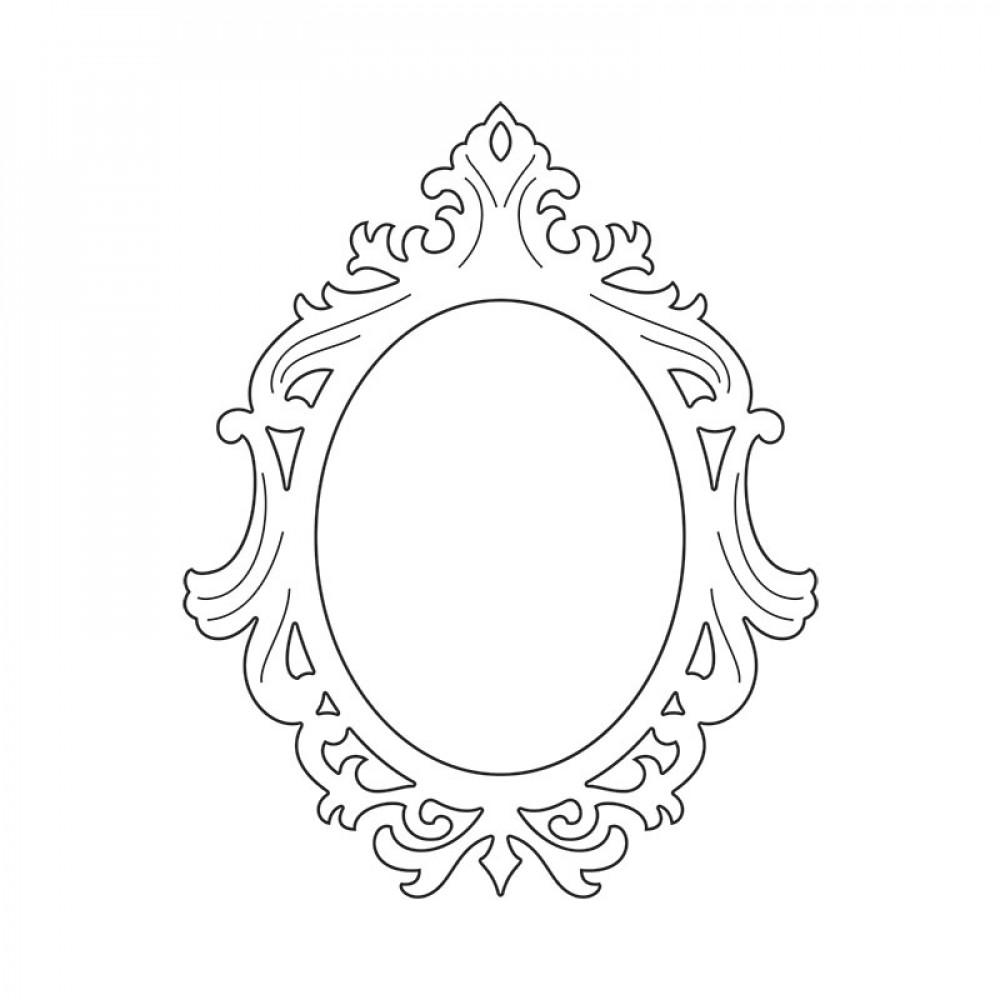 Ornate Oval by Jen Long-Philipsen Frame Sizzix Thinlits Die