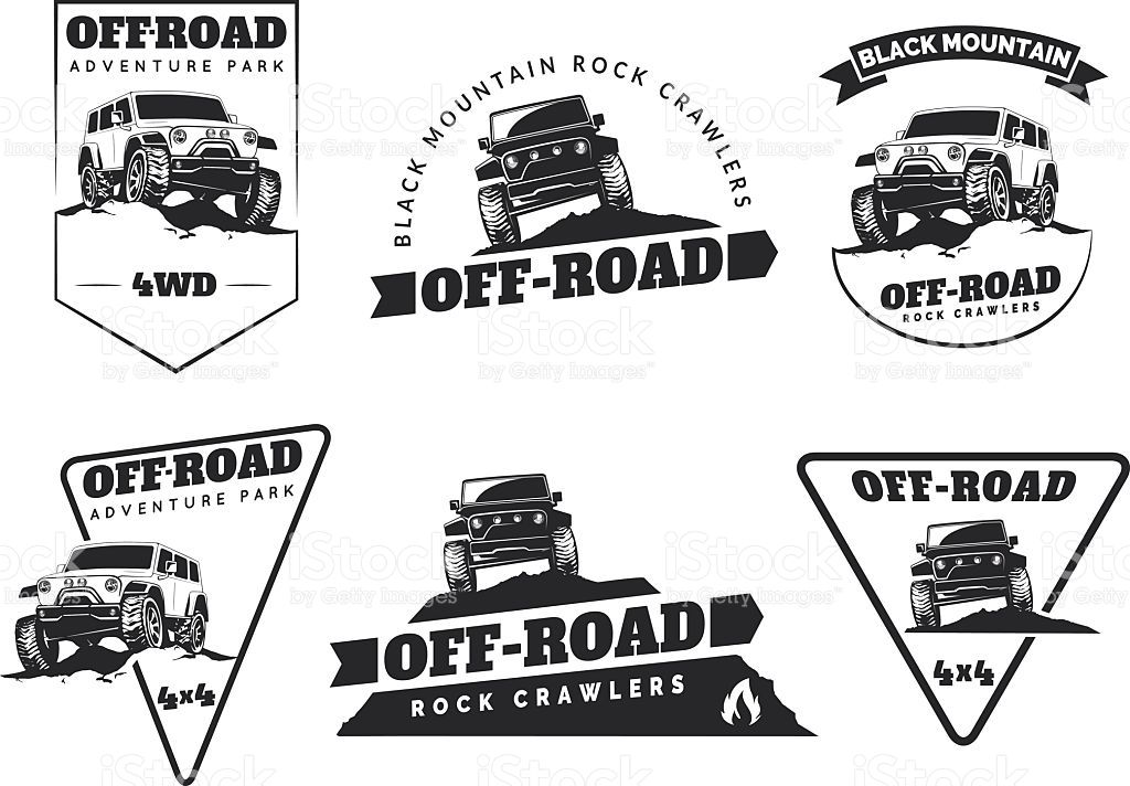 Set Of Classic Off Road Suv Car Emblems Badges And Icons Rock