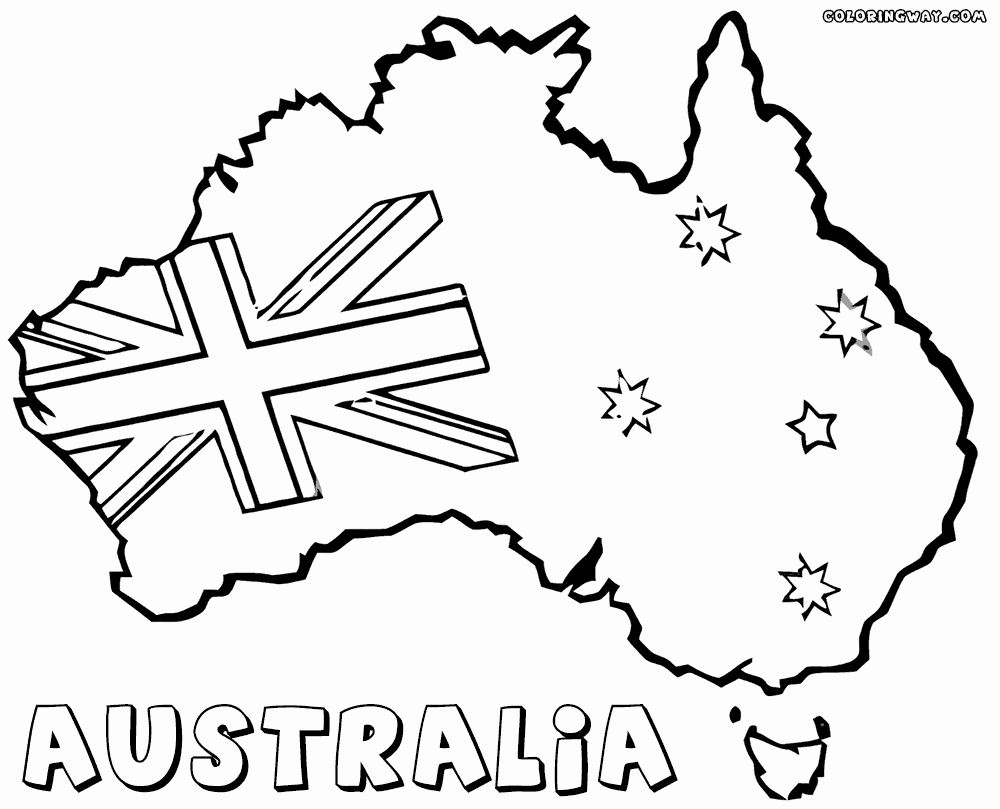 Australia Flag Coloring Page Inspirational Australian Flag Coloring Pages Australia Crafts Australia Flag Flag Coloring Pages