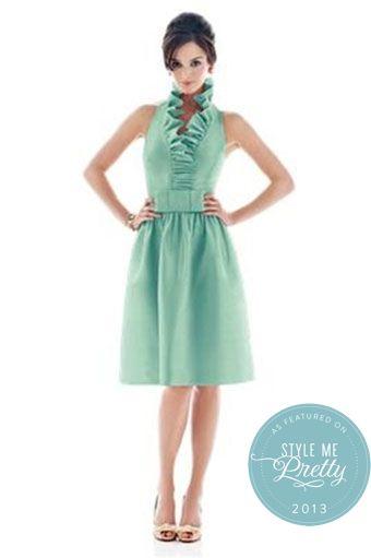Mint Bridesmaids Dress Ruffled Color - Super chic!