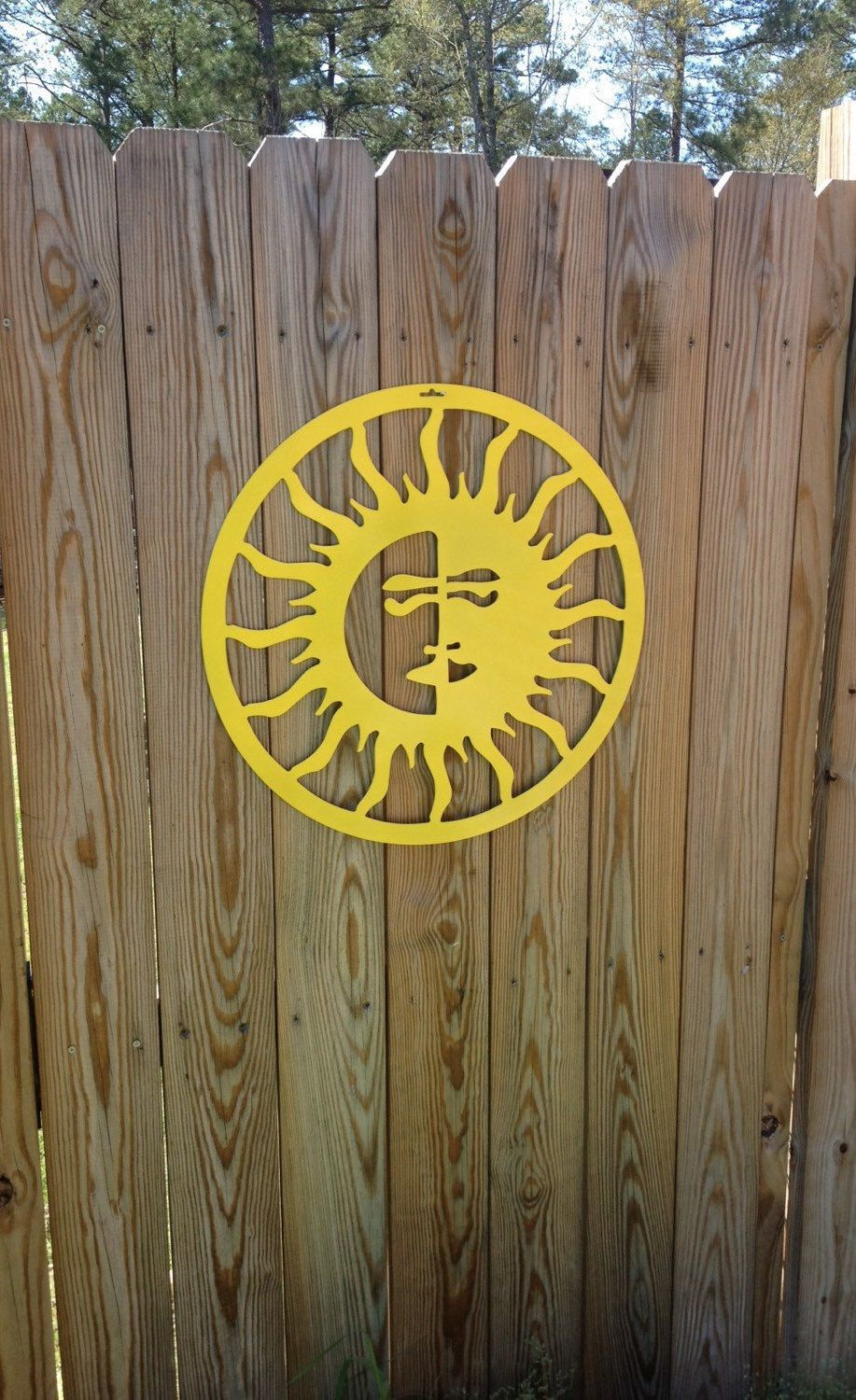 Sun/Moon OUTDOOR METAL WALL art, by housesensations on Etsy ...