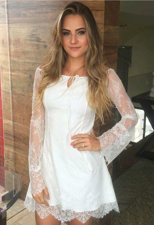 Vestidinho delicado e lindo feminina pinterest