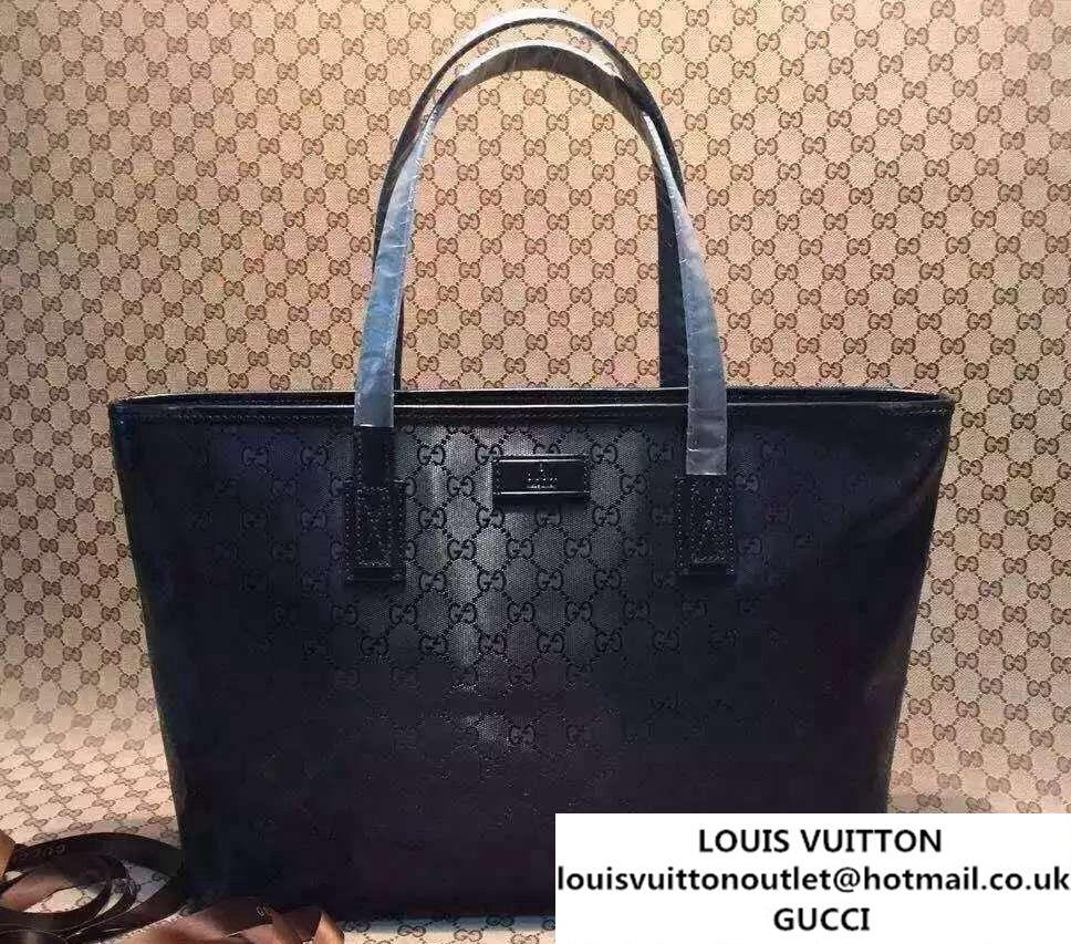 a340b2df64d Gucci GG Supreme Canvas Tote Bag 211137 Imprime Black 2016