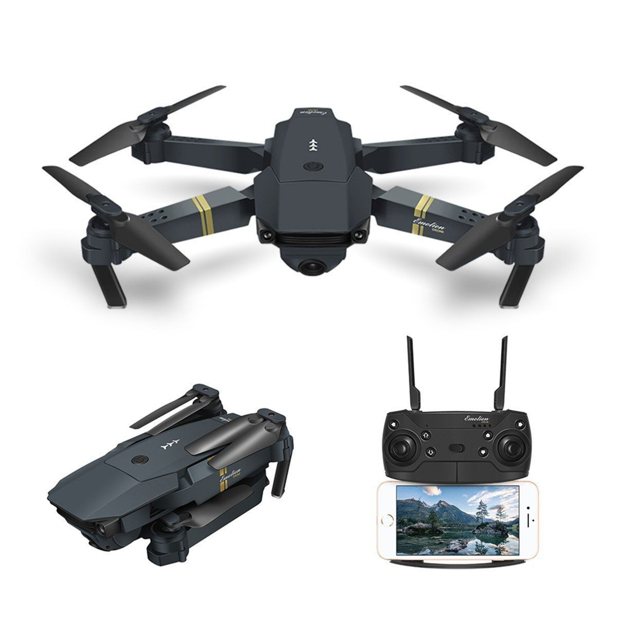 Drone With Camera Live Video Eachine E58 Wifi Fpv Quadcopter With 120 Wide Angle 720p Hd Camera Foldable Drone Rtf Foldable Drone Fpv Quadcopter Drone Camera