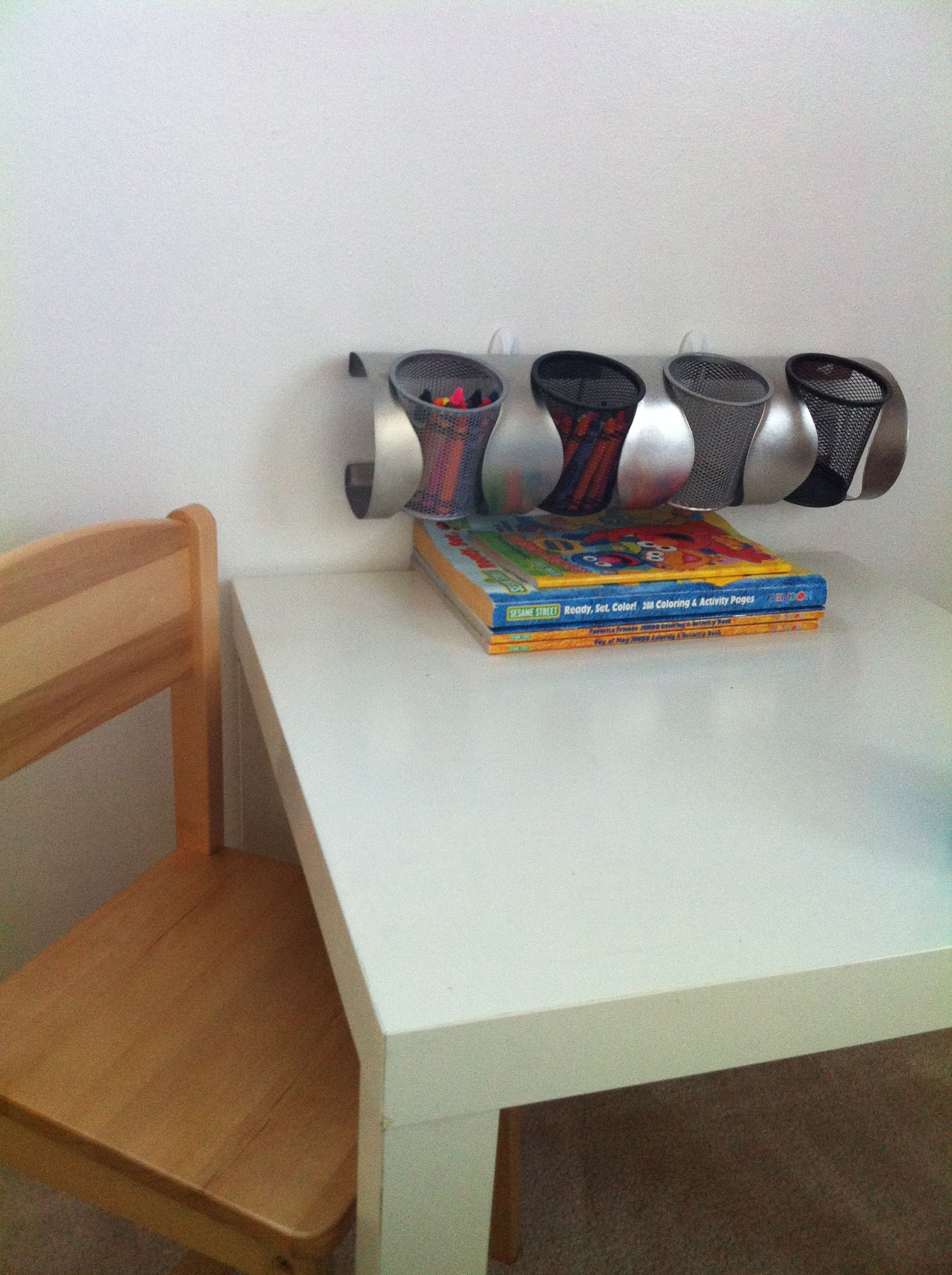 Repurposed Ikea Wine Rack Into A Craft Supplies Organizer For The