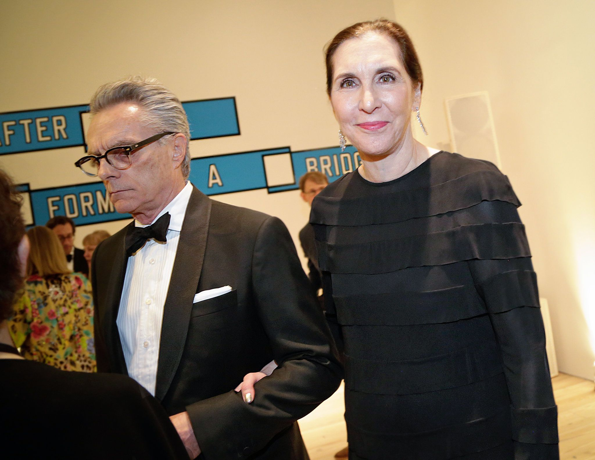 Go to previous slide Go to next slide  The artists Carroll Dunham (left) and Laurie Simmons, also known as Lena Dunham's parents.