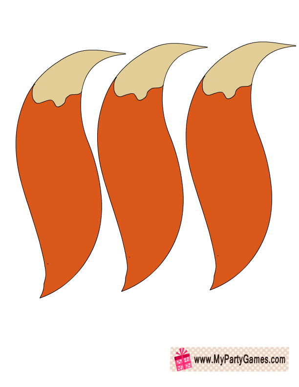 Tails Printable For Pin The Tail On Fox Game Free Printable Baby