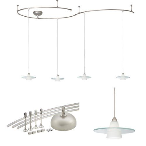 Solorail brushed nickel pendant complete kit wac lighting monorail solorail brushed nickel pendant complete kit wac lighting monorail packages track lighting aloadofball Choice Image