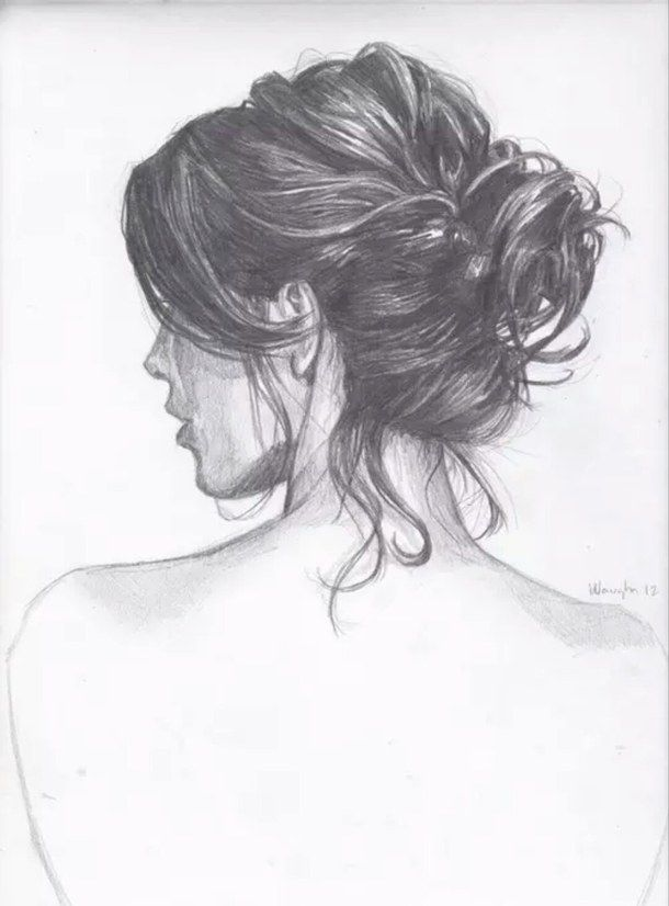 Image Result For Girls Back Sketch How To Draw Hair Art Sketches